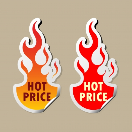 hot price: Hot price stickers  Illustration