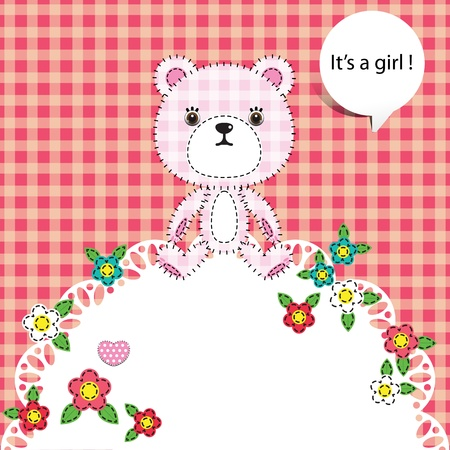 child background with teddy bear Stock Vector - 19157072
