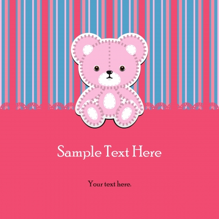 Teddy bear for boy - arrival announcement Vector