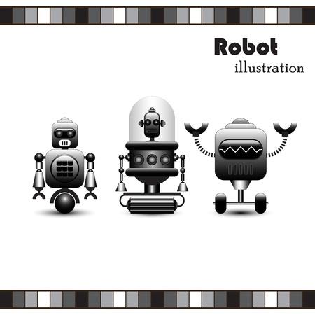 artificial leg: Robots Collection  Illustration