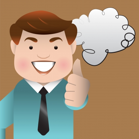 Businessman Giving Thumbs Up Stock Vector - 19196632