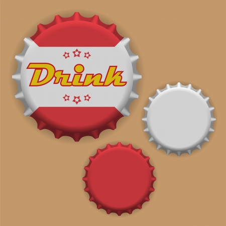 Bottle caps vector Illustration