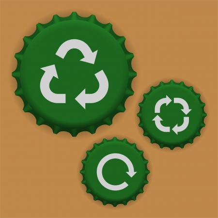 Vector bottle caps Vector