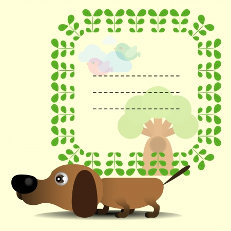 Frame with cute dog Stock Vector - 19264612