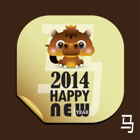 2014 Chinese Lunar New Year of the Horse  Vector