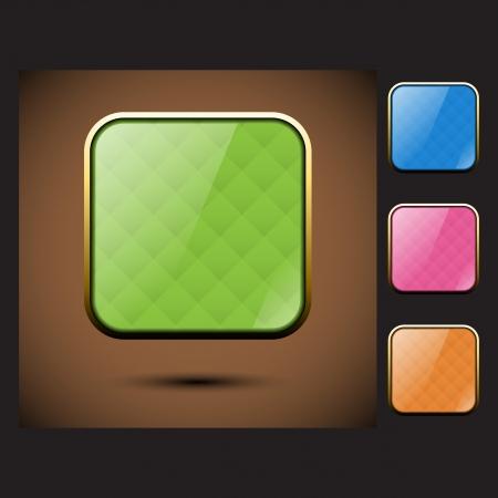 Four color of glass square frames Illustration