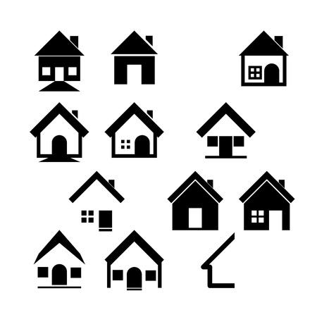 Houses icons set  Real estate   Illustration