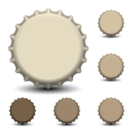 beer bottle: Bottle caps vector