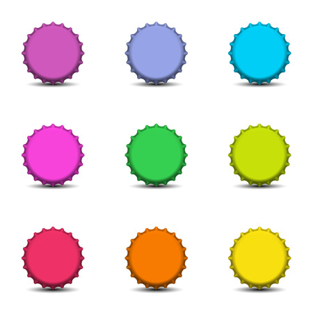Colorful bottle caps vector Stock Vector - 26752833