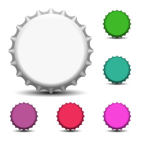 gorro: Colorful tapas de botellas vector