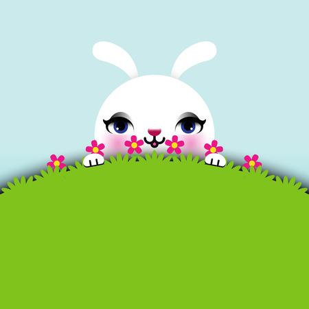 flappers: Pascua Conejito sentado en la hierba