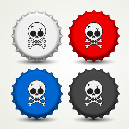 bottle cap: Bottle caps vector