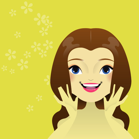 pores: Woman s care of her skin  Vector illustration  eps 10