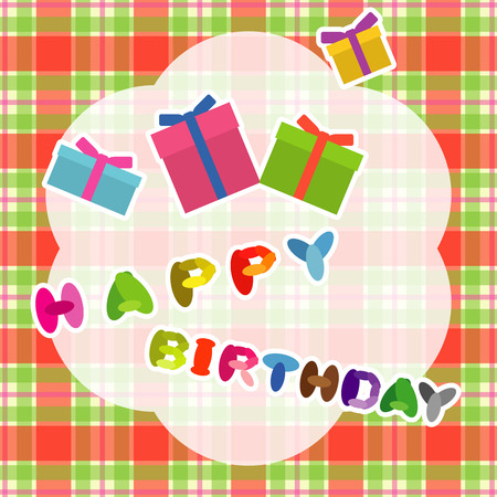 Happy birthday card with presents