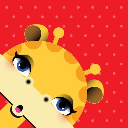 giraffa: Jirafa - ilustraci�n vectorial