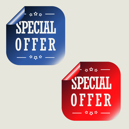 Special Offer Stickers Illustration