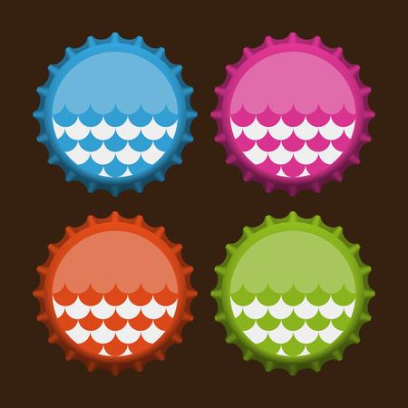Bottle caps. Vector  illustration