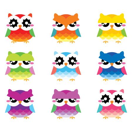 twit: Cute owls set