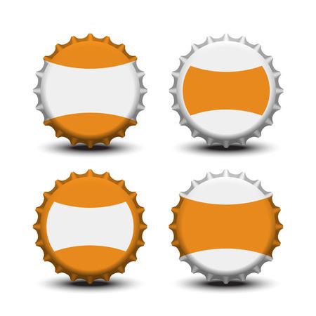 juice bottle: Bottle caps vector Illustration