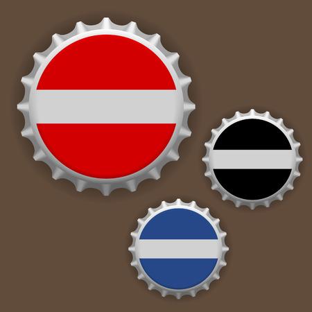 Bottle caps vector Ilustrace