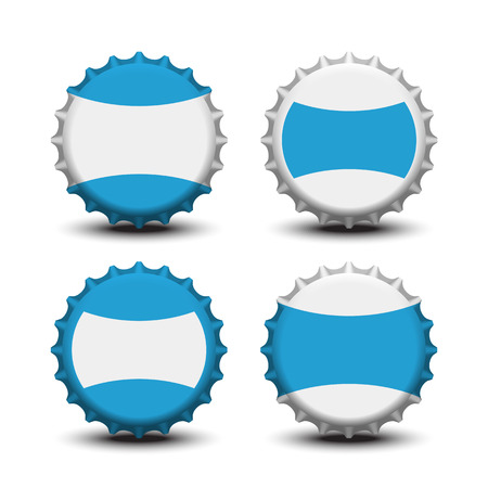 bottle cap: Bottle caps vector Illustration