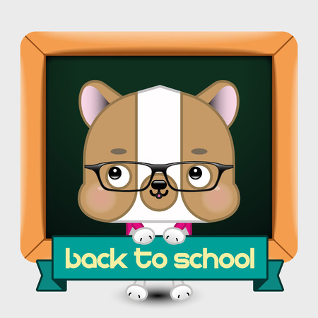 undomesticated: Back to School Dog. Vector Illustration