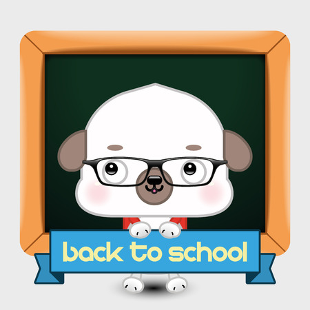 undomesticated: Back to School. Vector Illustration