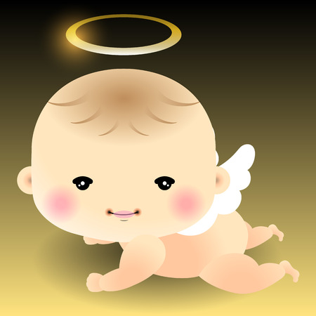 air baby: Baby Angel. Vector illustration