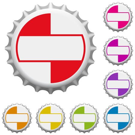 Colorful bottle caps. Vector illustration