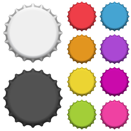 Colorful bottle caps. Vector illustration