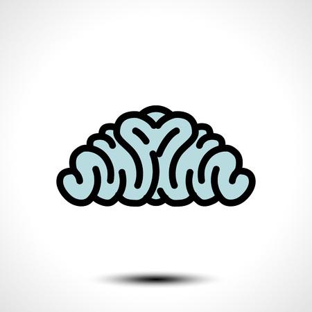 Abstract brain logo. Brainstorm think idea Logotype concept icon. Vector illustration