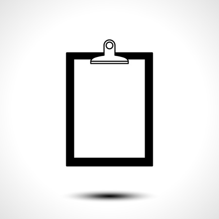 Blank clipboard with paper icon. Vector illustration Illustration
