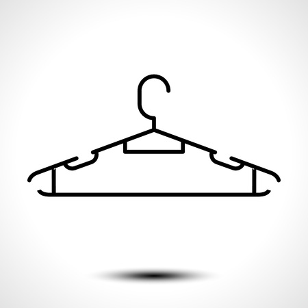 Clothes hanger icon. Vector illustration Ilustracja