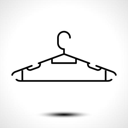 Clothes hanger icon. Vector illustration Illustration