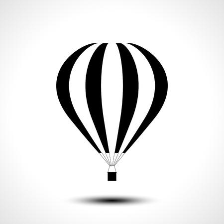 Hot air balloon icon. Vector illustration