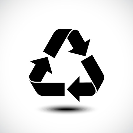 Recycle icon. Vector illustration