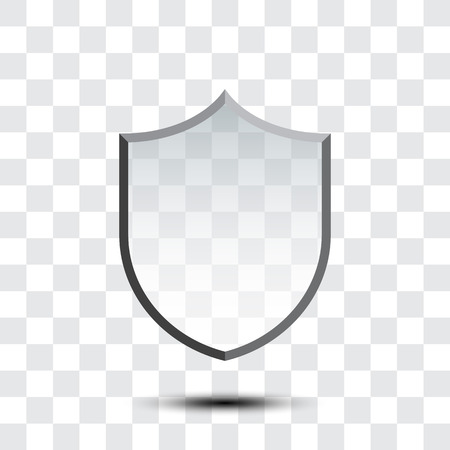 Blank protection shield icon isolated on white background. Vector illustration