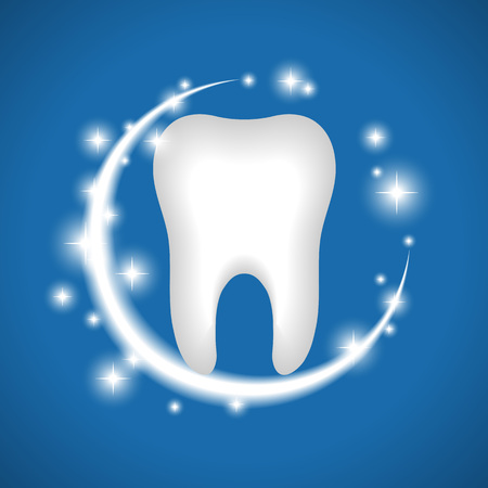 Whitening of human tooth. Vector illustration