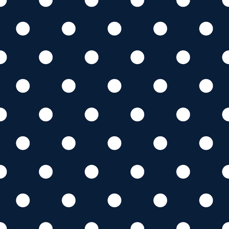 Retro pattern with white polka dots on dark blue background - retro seamless pattern for backgrounds, blogs, www, scrapbooks, party or baby shower invitations and wedding cards.