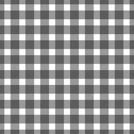 continue: Seamless black colored checkered table cloth background. Vector illustration Illustration