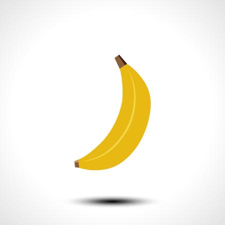 Ripe Banana Isolated On White Background Vector Illustration