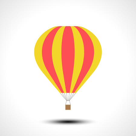 Hete lucht ballon pictogram vectorillustratie