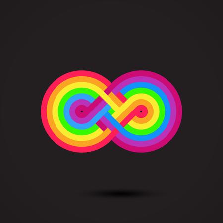 Infinity symbol icon. Vector illustration