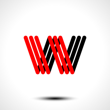 Vector illustration of abstract icon based on the letter W
