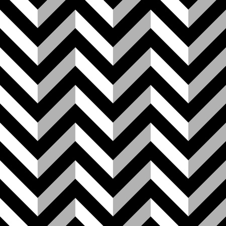 Black and White Zigzag Seamless Pattern. Vector illustration Illustration
