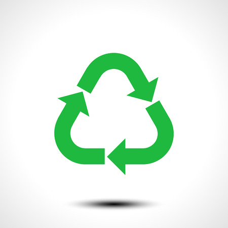 Recycle icon. Eco recycle sign symbol isolated on white background. Vector illustration