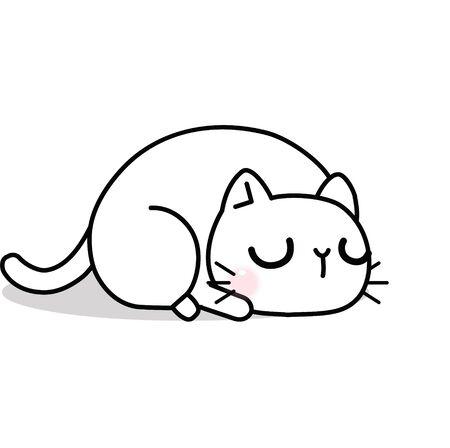 Funny and cute cartoon cat, Vector illustration Illustration