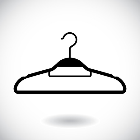 conformity: Hanger icon isolated on white. Vector illustration Illustration