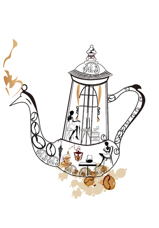 coffeepot: Abstract coffee-pot as a restaurant Illustration