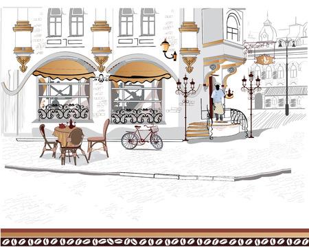 Série des rues avec des personnes dans la vieille ville Banque d'images - 38767043